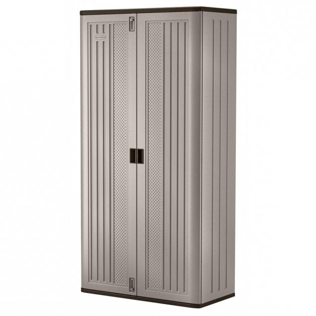 Stylish Suncast 40 In X 8025 In 3 Shelf Resin Mega Tall Storage Cabinet Suncast Storage Cabinets