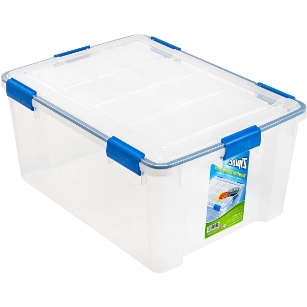 Stylish Ziploc 60 Qt Weathershield Storage Box Clear Walmart Airtight Storage Bins