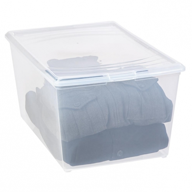 Alluring Iris 64 Qt Modular Storage Box In Clear 101561 The Home Depot Iris Storage Containers
