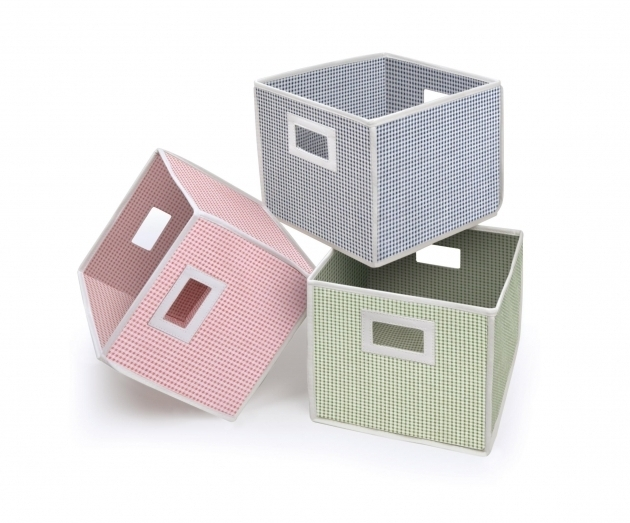 Awesome Badger Basket Folding Basket Pink Polka Dot Walmart Plastic Cube Storage Bin