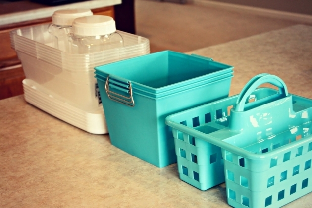 Awesome Organizing Our Home The Bathroom Cabinet Free Printables Dollar Tree Storage Bins