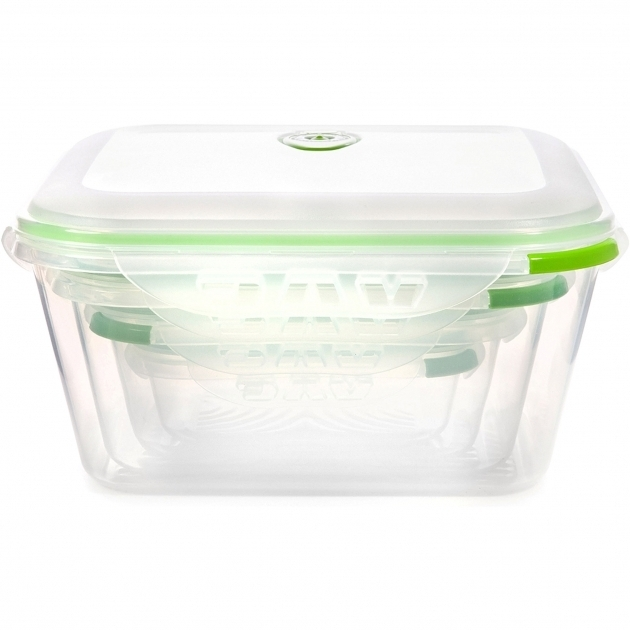 Awesome Ozeri Instavac Green Earth Vacuum Sealed Locking 8 Container Food Glass Food Storage Containers With Lids