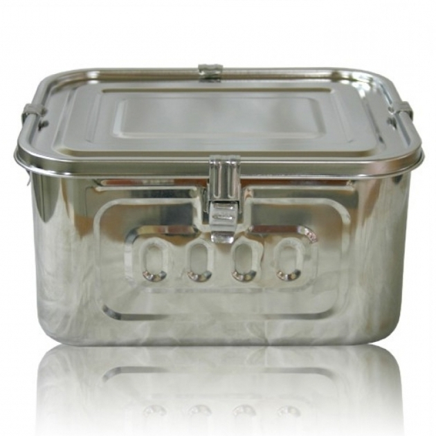 Awesome Steel Airtight Watertight Rectangular Storage Container 2 L Weather Tight Storage Containers