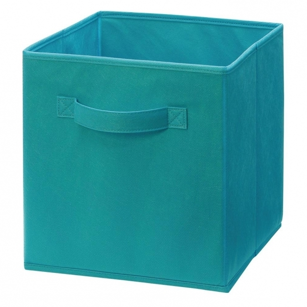 Best Closetmaid Cubeicals 11 In H X 105 In W X 105 In D Fabric Teal Storage Bins