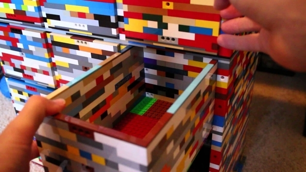 Best Lego Storage Container Made From Legos Youtube Lego Storage Containers