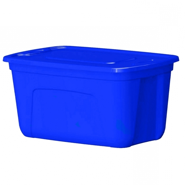 Best Shop Style Selections 30 Gallon Blue Tote With Standard Snap Lid 30 Gallon Storage Bins