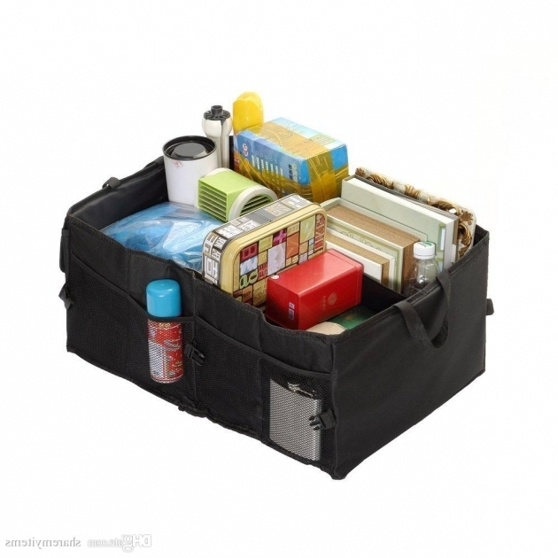 Fantastic Foldable Car Trunk Organizer Cargo Storage Container With Rigid Car Trunk Storage Containers