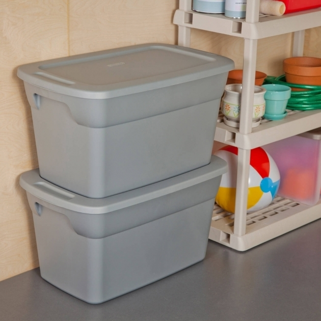 Fantastic Plastic Storage Boxes 6 X Sterilite 30 Gallon Tote Box Basement Or 30 Gallon Storage Bins