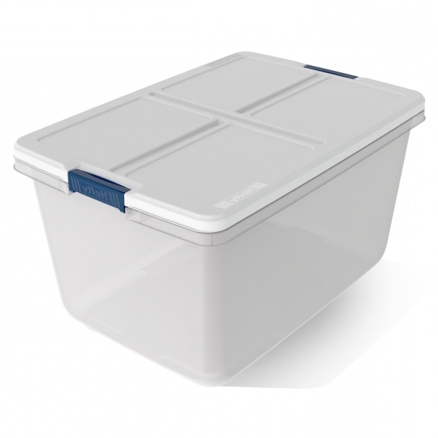 Fantastic Shop Plastic Storage Totes At Lowes 12 Inch Storage Bins