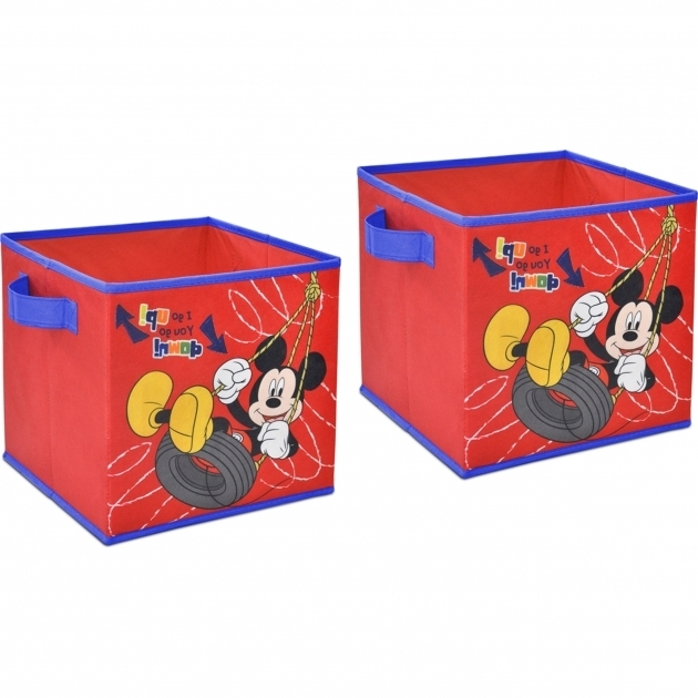Fascinating Disney Mickey Mouse 2 Pack Storage Cube Walmart Mickey Mouse Storage Bins
