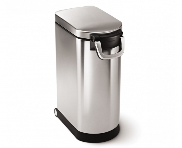 Gorgeous Simplehuman Extra Large Stainless Steel Pet Food Can Airtight Dog Food Storage Containers