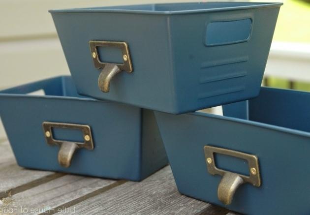 Image of Dollar Store Bins To Stylish Storage Just Add Paint Lemons Turquoise Storage Bins