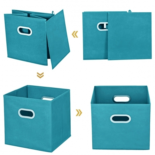 Incredible Cloth Storage Bins Maidmax Set Of 6 Nonwoven Foldable Collapsible Teal Storage Bins