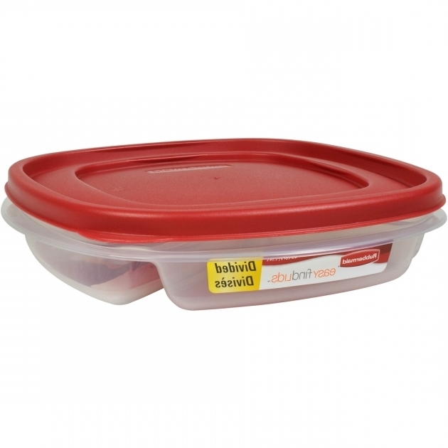 Incredible Rubbermaid 48 Cup Square Divided Food Storage Container Divided Food Storage Containers