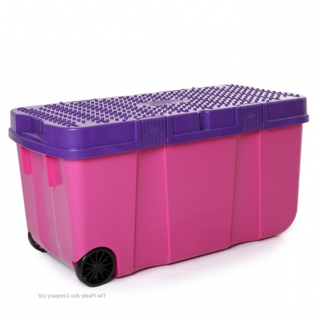 Inspiring 90l Funky Tough Box On Wheels 4 Pack Plastic Box Shop Plastic Storage Containers With Wheels