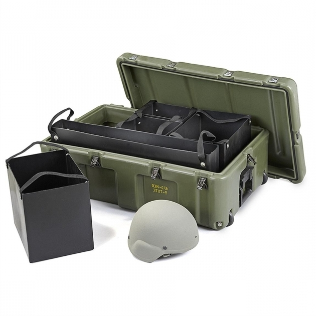 Marvelous New Us Military Surplus Hardigg 33x20x12 Wheeled Case With Wheeled Storage Containers
