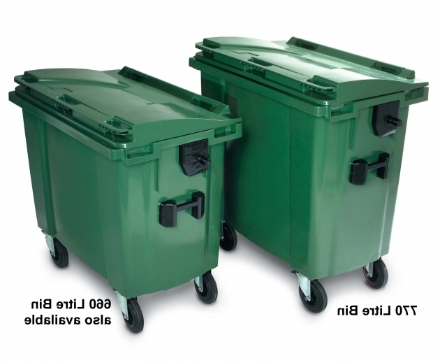 Outstanding Large Wheeled Bin 770 Litre With 4 Wheels Plastic Containers Wheeled Storage Containers