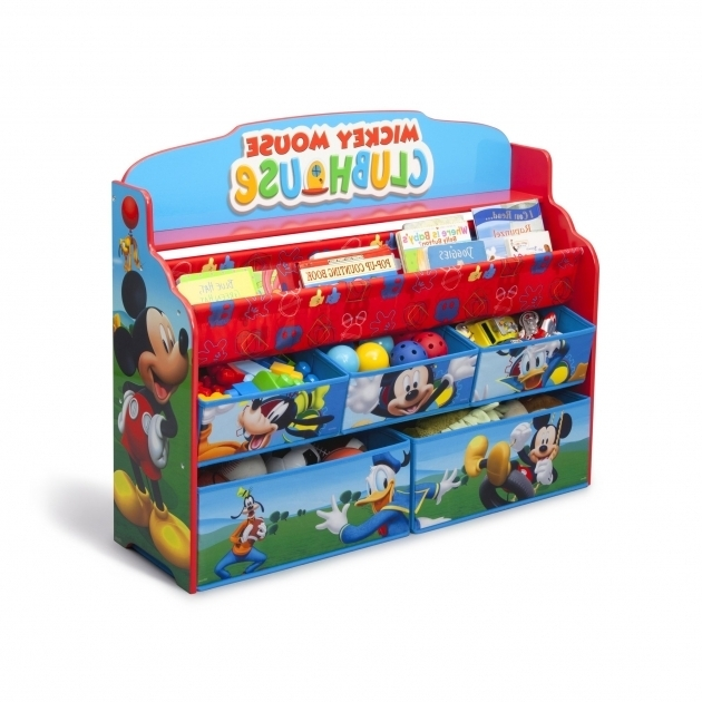 Picture of Delta Children Mickey Mouse Deluxe Book And Toy Organizer Mickey Mouse Storage Bins