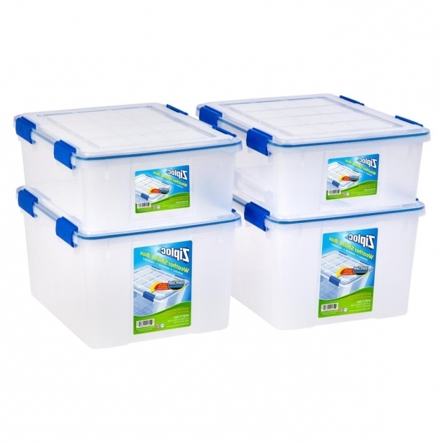 Picture of Iris 265 Qt And 44 Qt Set Ziploc Weather Shield Storage Box In Ziploc Storage Bins