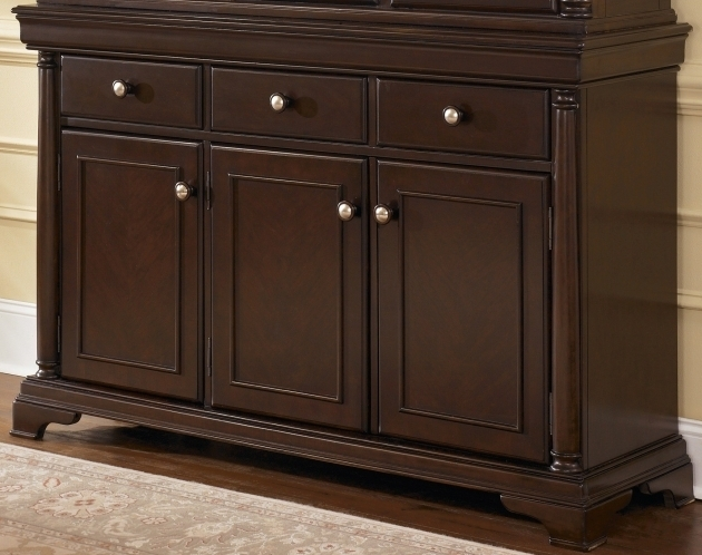 Remarkable Dark Brown Wooden Storage Cabinet With Triple Storage And Drawers Wood Storage Cabinets With Drawers