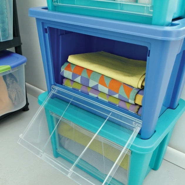 Stylish 220 In L X 175 In W X 151 In H Large Access Organizer In Turquoise Storage Bins