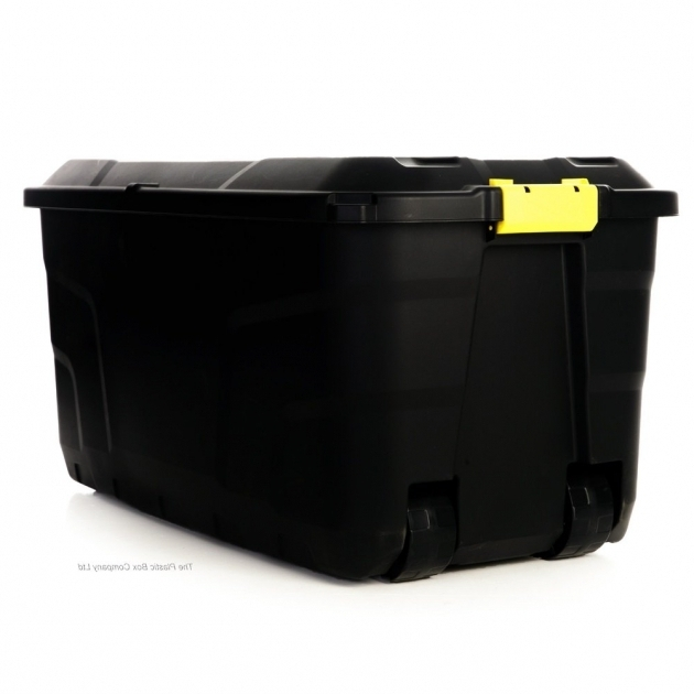 Stylish Buy 145lt Extra Large Massive Plastic Box With Clip Lid And Wheels Storage Bins With Locks