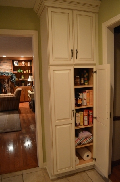 Stylish Captivating White Wooden Kitchen Pantry Cabis With Double Door Oak Food Storage Cabinet With Doors