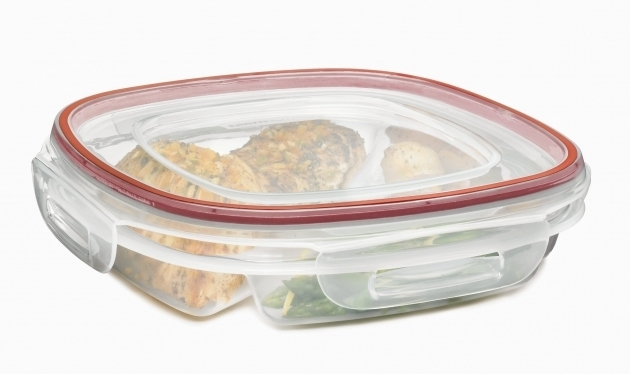 Stylish Rubbermaid Storage Box Picture Divided Food Storage Containers