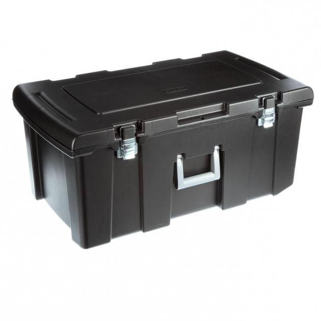 Amazing Sterilite Footlocker Storage Box 18429001 The Home Depot Storage Bins With Wheels
